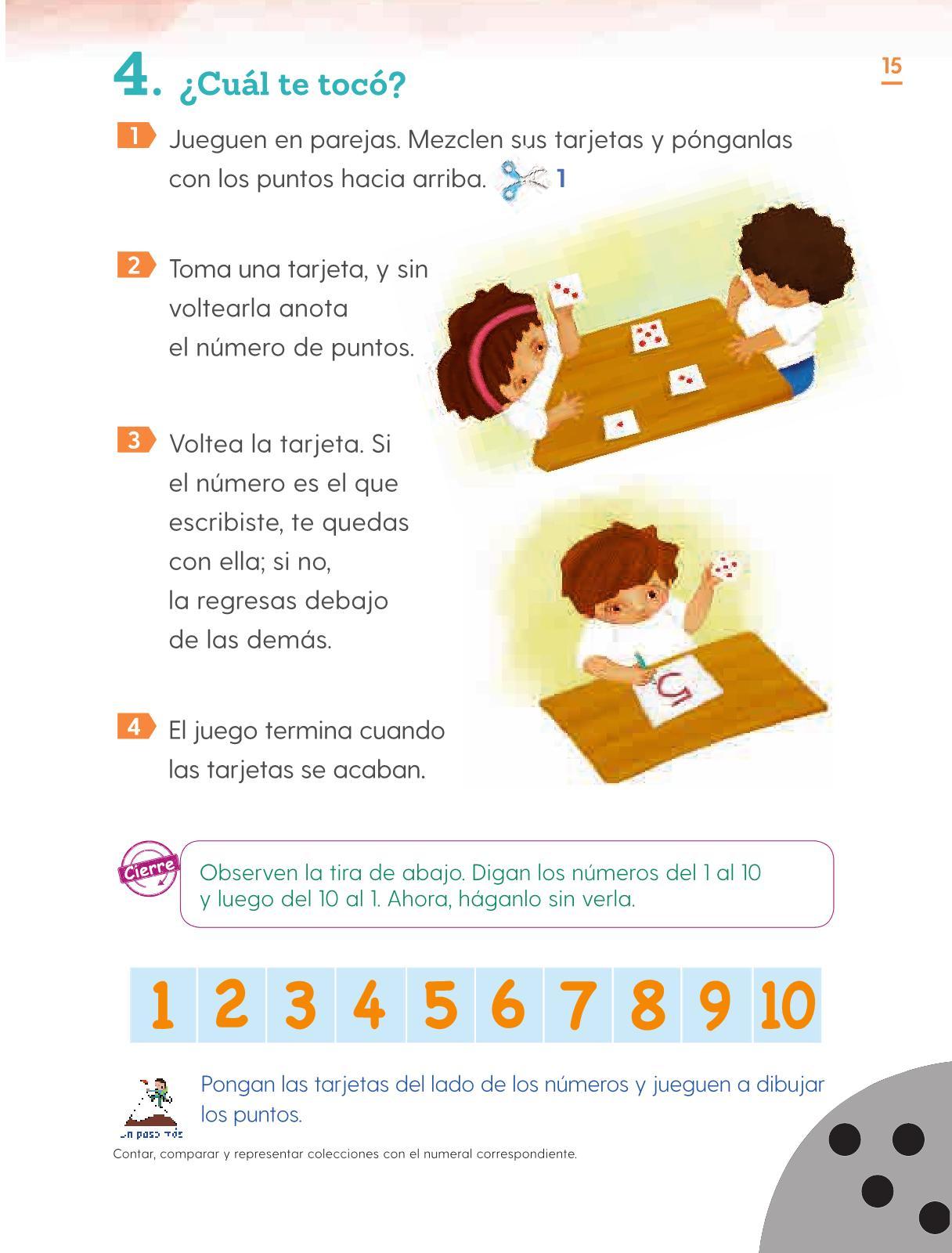 Matemáticas Primer grado página 15