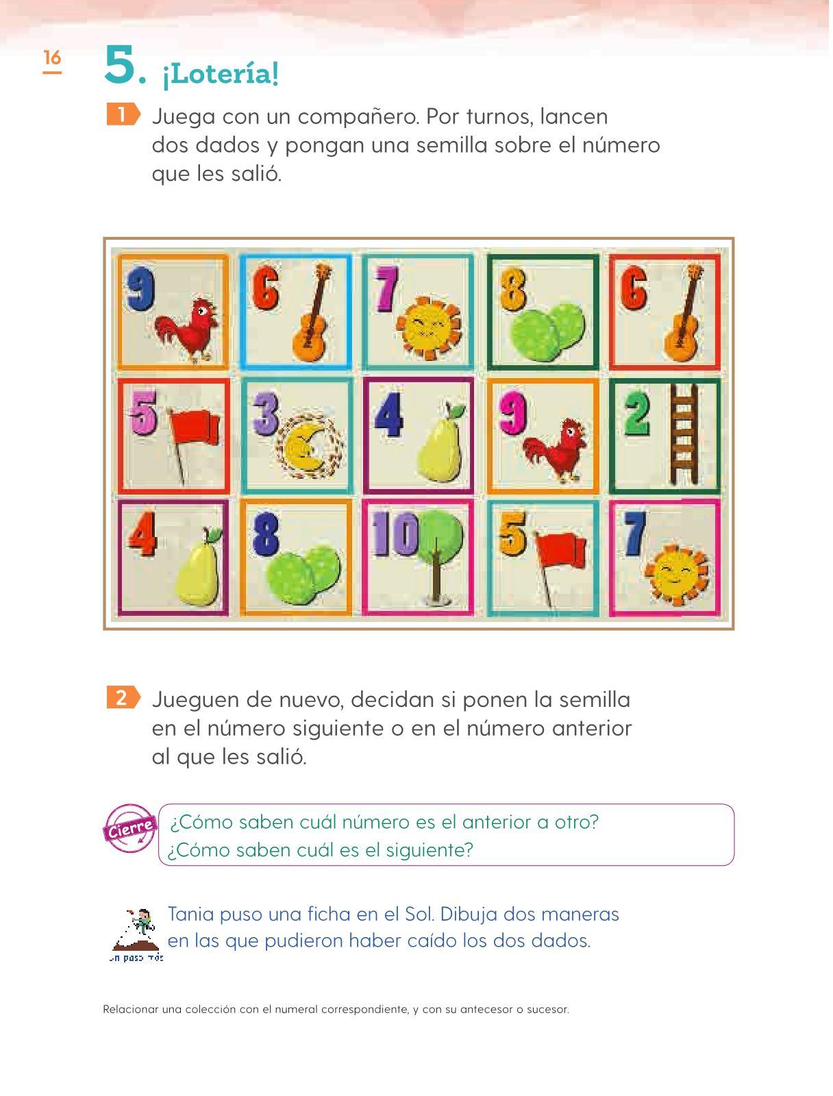 Matemáticas Primer grado página 16